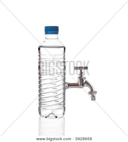 Tap Water Isolated On White Background