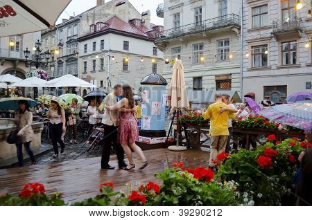 Lvov City On The Eve Of Euro 2012