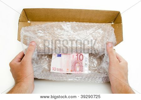 Custom Box with ten euro note