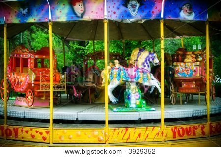Carousel In Themepark