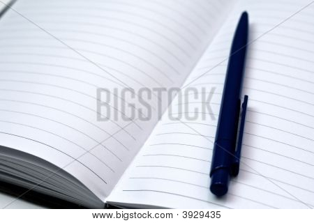 Open Blank Diary