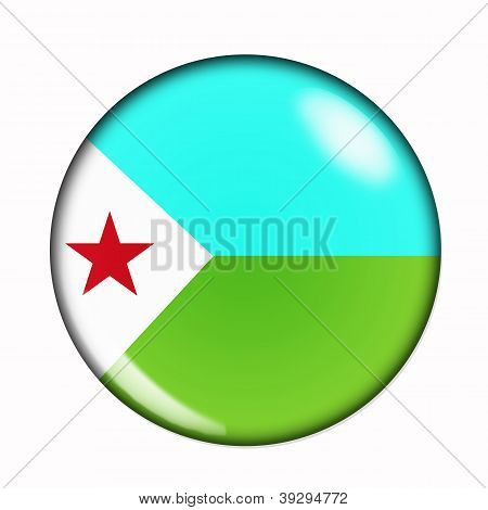 Button Flag Of Djibouti