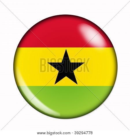 Button Flag Of Ghana