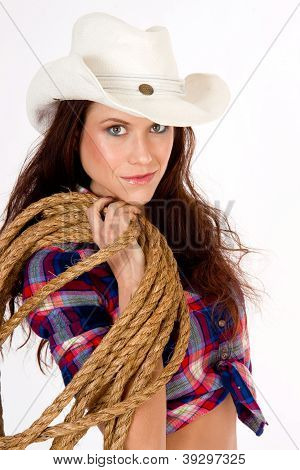 Cowgirl And Gear