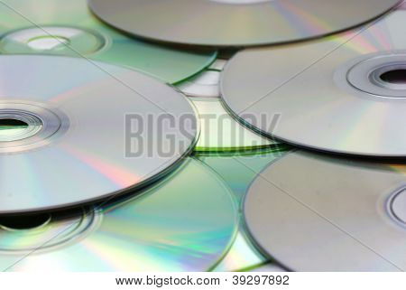CD and DVD disks for recycling
