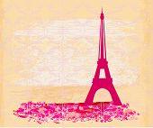 Постер, плакат: Винтажные ретро Eiffel в Париж карты векторные иллюстрации
