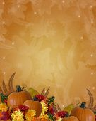 foto of thanksgiving  - Image and Illustration composition for Thanksgiving invitation border or background with copy space - JPG