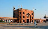 Courtyard Of Jama Masjid In Delhi