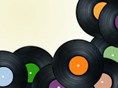 stock photo of lp  - vinyl plate or disc - JPG