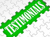 image of recommendation  - Testimonials Puzzle Showing Credentials Recommendations And Reviews - JPG