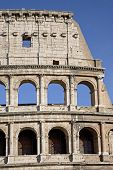 The Colosseum, The World Famous Landmark In Rome, Vertical Detail, Italy. poster