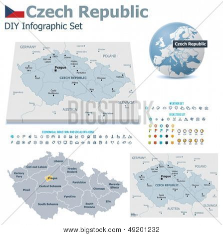 Czech Republic maps with markers