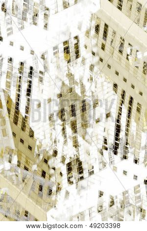 Abstract City Buildings Graphic