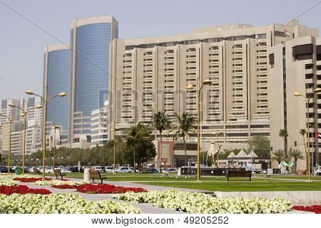 Dubai UAE The boardwalk in Deira along Dubai Creek.