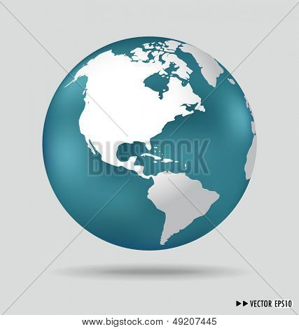 Modern globe. Vector illustration.