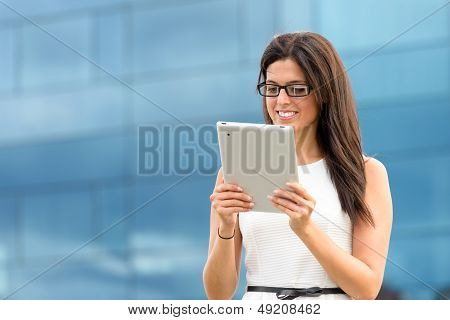 Female Executive With Tablet