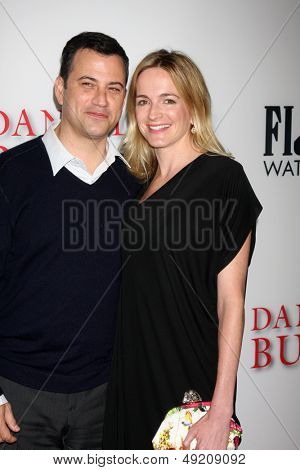 LOS ANGELES - AUG 12:  Jimmy Kimmel, Molly McNearney at the