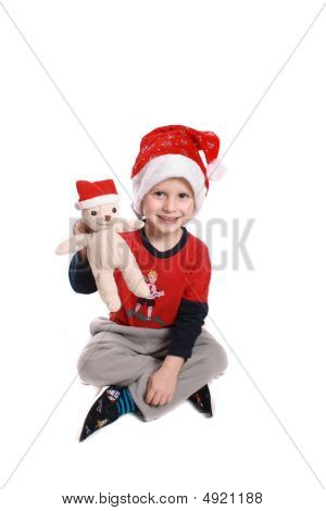 Boy And Bear Like Santa