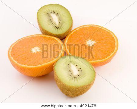 Fresh Kiwi And Orange
