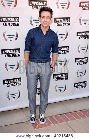 LOS ANGELES - AUG 10:  Kevin McHale at the Invisible Children Fourth Estate's Founders Party at the UCLA on August 10, 2013 in Westwood, CA