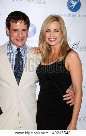 LOS ANGELES - AUG 10:  Christian LeBlanc, Jessica Collins at the Angel Awards at the Project Angel Food on August 10, 2013 in Los Angeles, CA