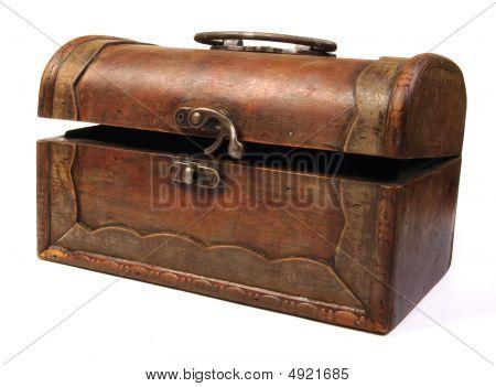 Antique Rustic Wooden Box