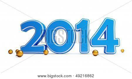 New Year 2014 Christmas Ball
