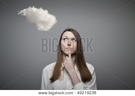 Girl And Cloud