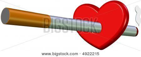 Corazón de cigarrillo
