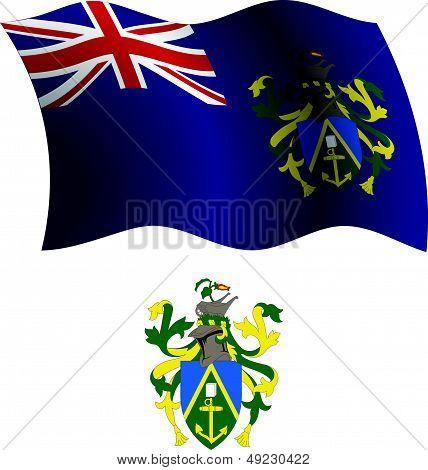 Pitcairn Islands Wavy Flag And Coat