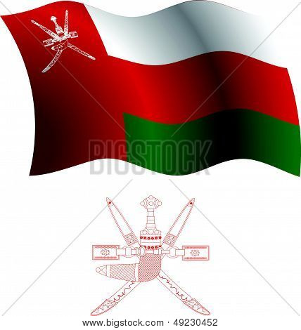 Oman Wavy Flag And Coat