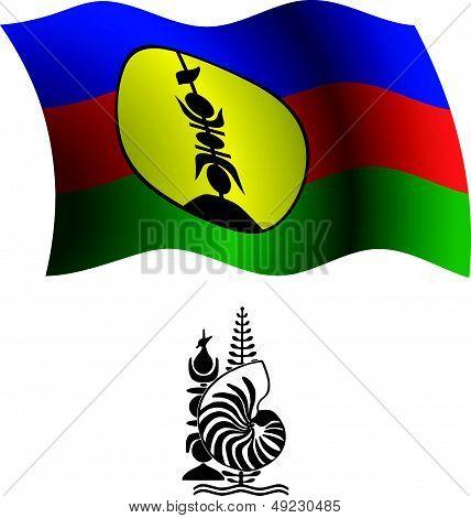 New Caledonia Wavy Flag And Coat