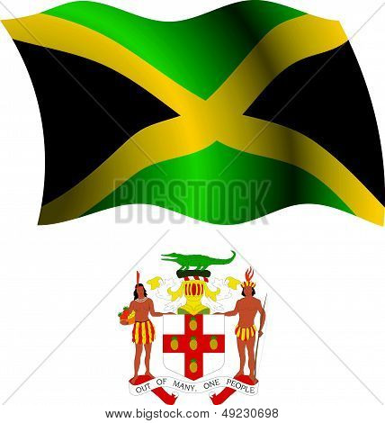 Jamaica Wavy Flag And Coat