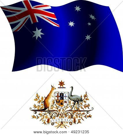 Australia Wavy Flag And Coat