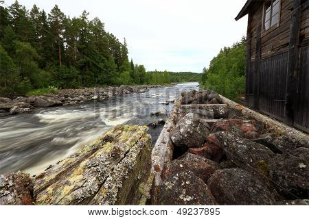 ancient fishing camp and running water