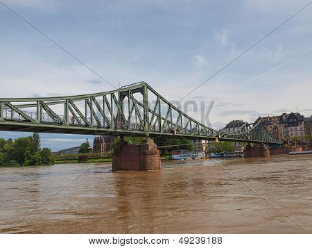Iron Bridge In Frankfurt