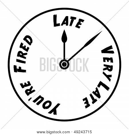 Work Place Clock Face