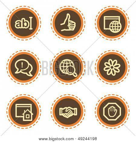 Internet web icons set 1, vintage buttons