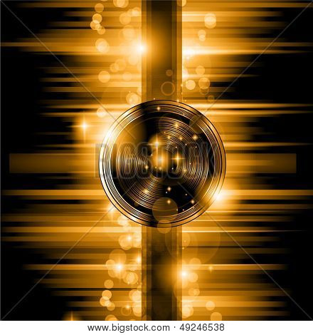 The Art of Disco Flyer - Stunning Speakers shape and a lot of stars and ray lights.