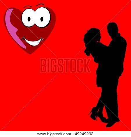 Couple In Love Vector Illustration