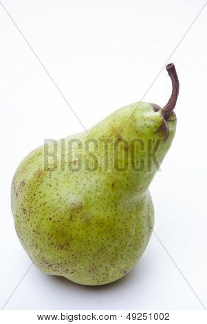 Green Duchesse Pear Isolaed On White