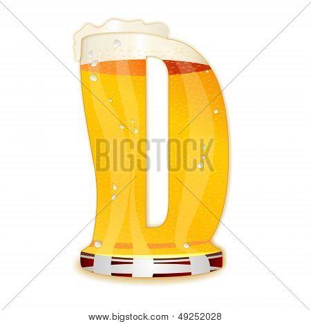 BEER ALPHABET letter D