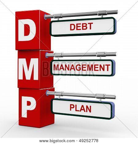 3D Modern Signboard Of Dmp