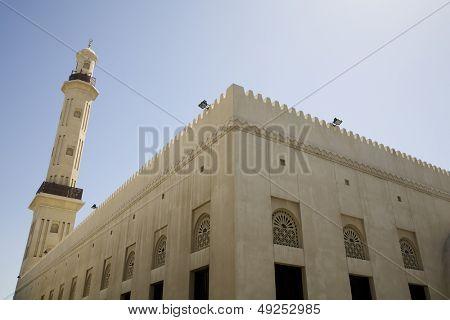 UAE Dubai The Grand Mosque and minaret in Bur Dubai