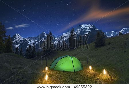 Camping in the Alps
