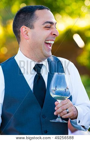 Groom During Toasts