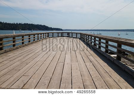 Wooden Dock At Ambleside Park