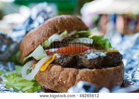 Burger Hot Off Grill