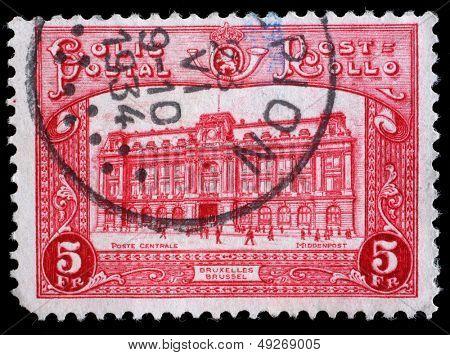 BELGIUM - CIRCA 1929: stamp printed by Belgium, shows Bruxelles, circa 1929