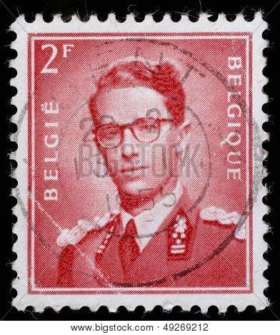 BELGIUM - CIRCA 1970: A stamp printed in Belgium shows King Baudouin,